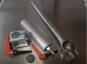 Package: Clamp Stork WITH handle LONG (300mm) and SHORT Cylinder (200mm) and Stork Holder with Handle and Rubber Foot