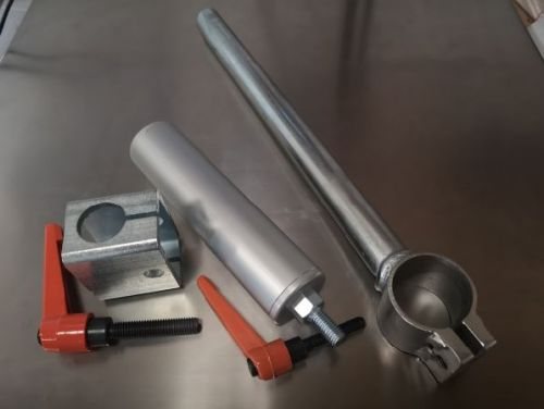 Package: Clamp Stork WITH handle SHORT (200mm) and SHORT Cylinder (160mm) and Stork Holder with Handle
